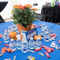 Decorated Table at Tailgate